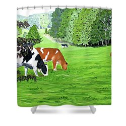 A Lush Summer Pasture Shower Curtain