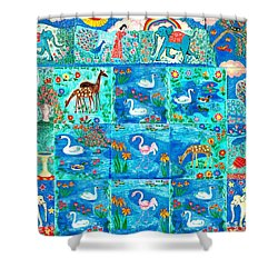 A Magic Country Shower Curtain by Sushila Burgess