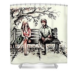A Magical Moment Shower Curtain by Rachel Christine Nowicki