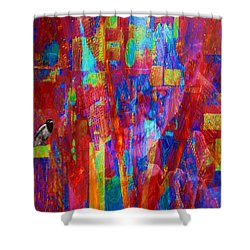 A Magpie At Wallstreet Shower Curtain