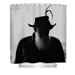 A Man Of Few Words Shower Curtain