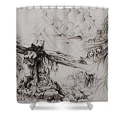 A Man Of Sorrows Shower Curtain by Rachel Christine Nowicki