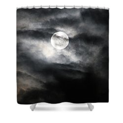 Shower Curtain featuring the photograph A Man On The Moon by Brian Boyle
