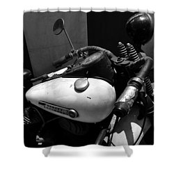 A Mans Harley Shower Curtain by David Lee Thompson