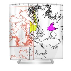 A Map Of Irises Shower Curtain