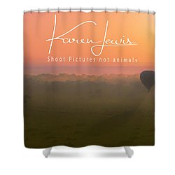 Shower Curtain featuring the mixed media A Mara Morn by Karen Lewis