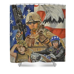 A Marine's Marine Shower Curtain