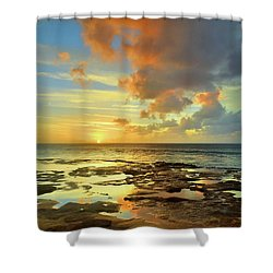 Shower Curtain featuring the photograph A Marmalade Sky In Molokai by Tara Turner