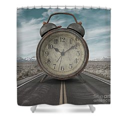 Shower Curtain featuring the photograph A Matter Of Time Surreal by Edward Fielding