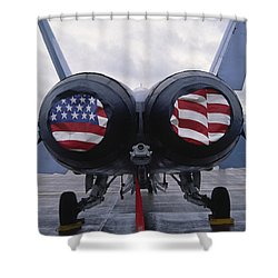 A Mcdonnell Douglas F/a-18 Hornet Twin-engine Supersonic Fighter Aircraft Shower Curtain