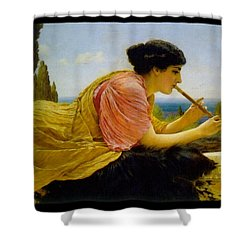 A Melody  Shower Curtain by John William Godward