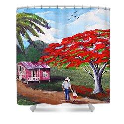 A Memorable Walk Shower Curtain
