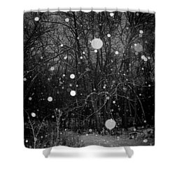 A Message Shower Curtain by Annette Berglund