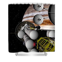 A Message Back Home Shower Curtain by David Robinson