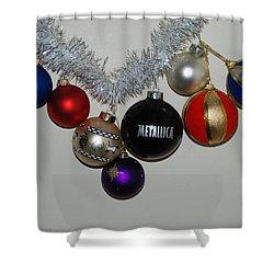 A Metallica Xmas Shower Curtain