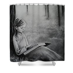 A Mid Summers Tale Shower Curtain by Carla Carson