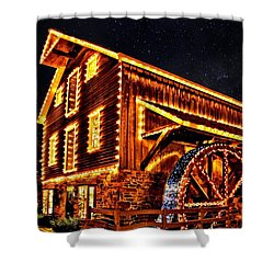 A Mill In Lights Shower Curtain