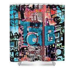 Shower Curtain featuring the mixed media A Million Colors One Calorie by Tony Rubino