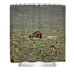 A Miner's Shack Shower Curtain