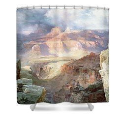 A Miracle Of Nature Shower Curtain by Thomas Moran
