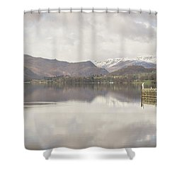 Shower Curtain featuring the photograph A Misty Ullswater by RKAB Works