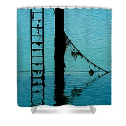 Shower Curtain featuring the photograph A Modicum Of Maritime Minimalism by Chris Lord
