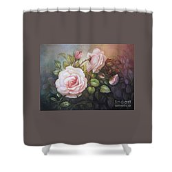 Shower Curtain featuring the painting A Moment In Time by Patricia Schneider Mitchell