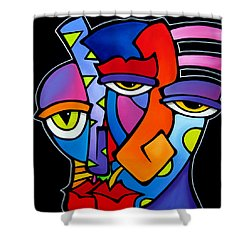 A Moment - Original Abstract Art Shower Curtain