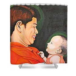 A Moment With Dad Shower Curtain