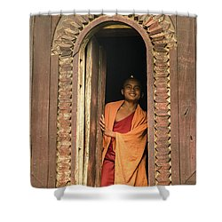 A Monk 4 Shower Curtain