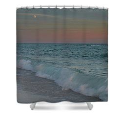 A Moonlit Evening On The Beach Shower Curtain
