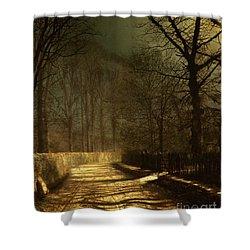 A Moonlit Lane Shower Curtain by John Atkinson Grimshaw