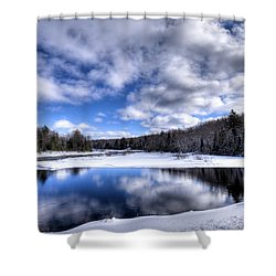 Shower Curtain featuring the photograph A Moose River Snowscape by David Patterson