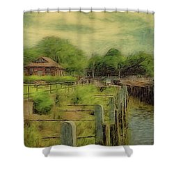 A Morning At Teddington Lock Shower Curtain