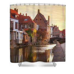 A Morning In Brugge Shower Curtain by JR Photography