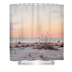 A Morning Stroll Shower Curtain