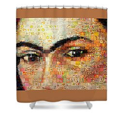 Shower Curtain featuring the photograph A Mosaic Of Life Thru Her Eyes by Paula Ayers