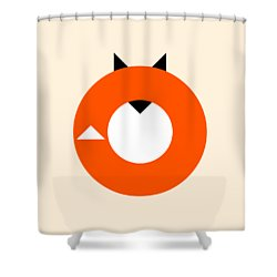 A Most Minimalist Fox Shower Curtain by Nicholas Ely