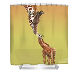 Shower Curtain featuring the digital art A Mother's Love by Thomas J Herring