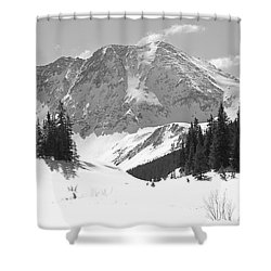 Shower Curtain featuring the photograph A Mountain Is A Buddha by Eric Glaser