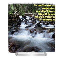 Shower Curtain featuring the photograph A Mountain Stream Situation 2 by DeeLon Merritt