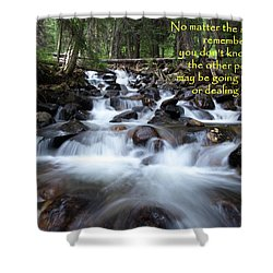 Shower Curtain featuring the photograph A Mountain Stream Situation by DeeLon Merritt
