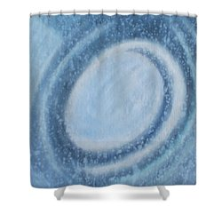 Shower Curtain featuring the painting A Moving by Min Zou