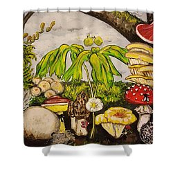 A Mushroom Story Shower Curtain