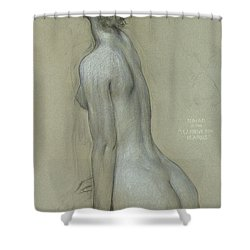 A Naiad In The Lament For Icarus Shower Curtain by Herbert James Draper