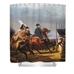 A Napoleonic War At Versailles Shower Curtain by Al Bourassa