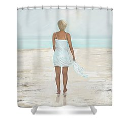 Shower Curtain featuring the painting A Natural Beauty by Leslie Allen