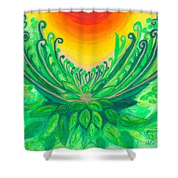 A New Beginning Shower Curtain by Ania M Milo