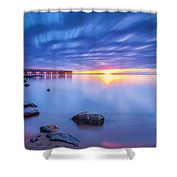 Shower Curtain featuring the photograph A New Dawn by Edward Kreis