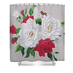 A New Rose Bouquet Shower Curtain